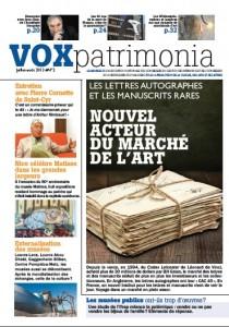 Couverture Vox Patrimonia